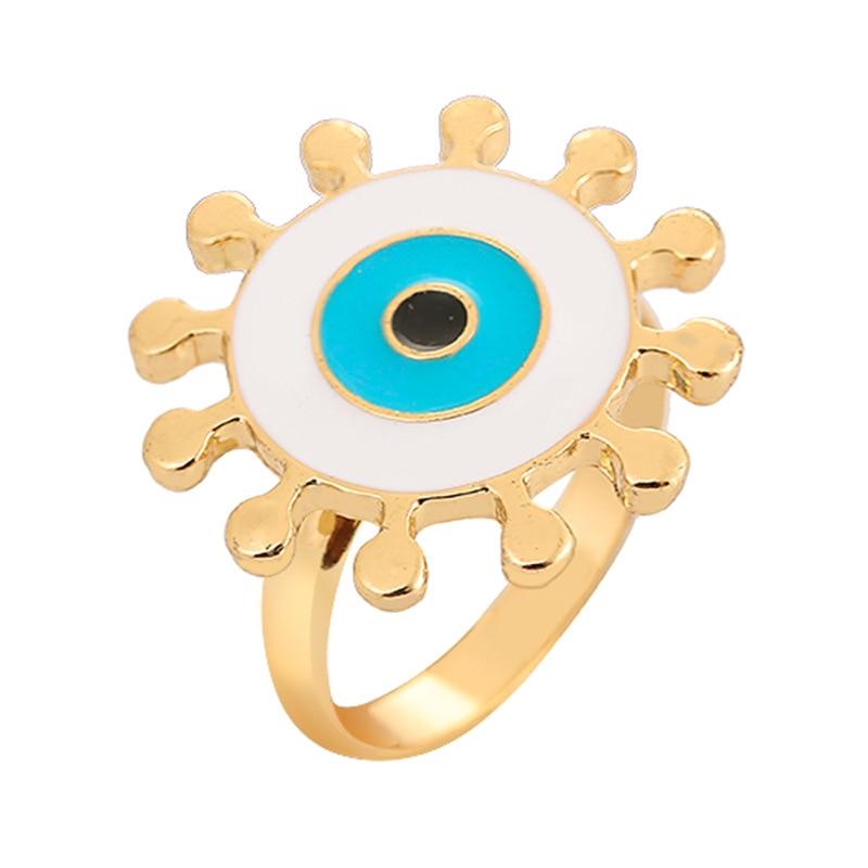 blue Eye Ring Punk Anel Ring new Turkish Evil Eye Rings Jewelry Bff Best Friends Couple Fashion Designer