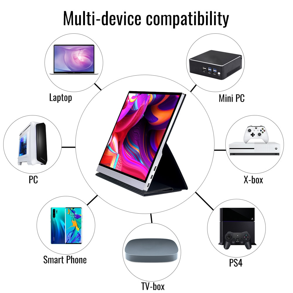 Hot 15.6 1080p USB 3.1 Type-C touch screen portable monitor for Ps4 Switch Huawei Xiaomi phone gaming monitor Laptop LCD display