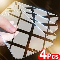 4 шт. закаленное стекло для Xiaomi Redmi Note 10 8 7 9s 9 Pro Защита экрана для Poco X3 M3 X3 Pro NFC F3 полное защитное стекло