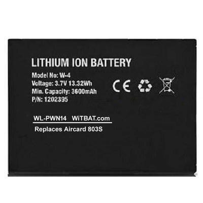 3600 мА/ч, Батарея для Netgear Aircard 803S,W-4, 1202395