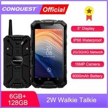 Водонепроницаемый смартфон CONQUEST S8 IP68, 6 ГБ, 128 ГБ, Android 7,1, телефон с NFC/IR/SOS/OTG/FM/рацией