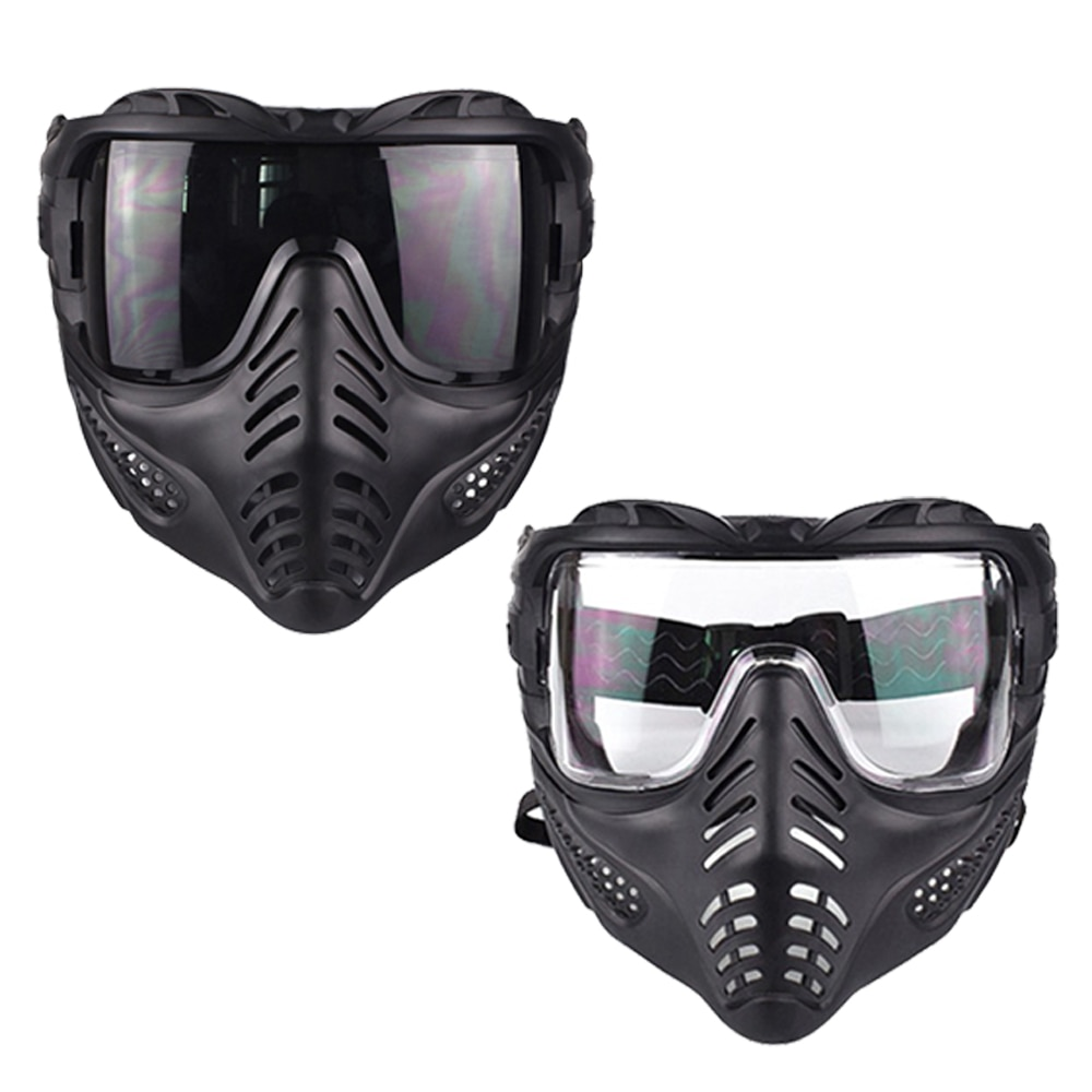 Tactical Lens Full Face Mask Breathable Protective CS Hunting Military Army Airsoft Protection Masks Paintball Accessories