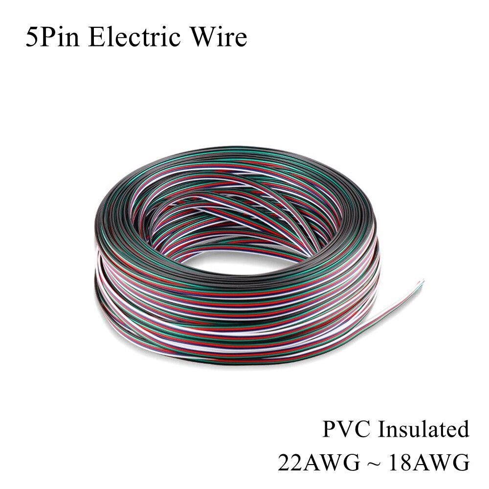 22AWG ~ 18awg Cable de cobre estañado eléctrico de 5 pines Cable...