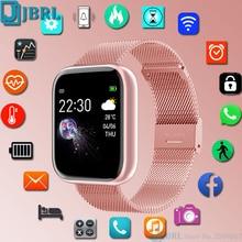 Smart Watch New Fashion Women Men Sport Watch Electronic Ladies WristWatch Luxury Clock Female Stainless Steel Square Smartwatch