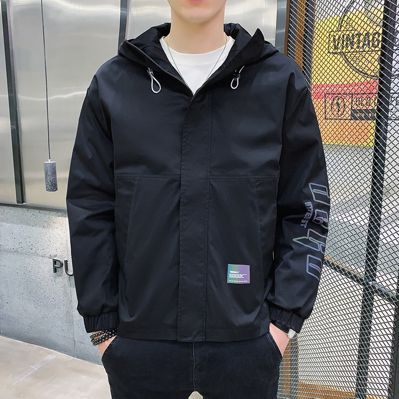 Модные мужские Весенние куртки, новинка, мужские куртки, популярные приталенные мужские куртки, повседневное ветрозащитное пальто из хлопк...