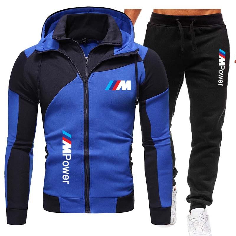 printio блокнот men s style New Style Men's Suits BMW Men's Sportswear Hoodies + Pants Sportswear Men's Zipper Hoodies Men's Suits Sportswear Jogging Sports