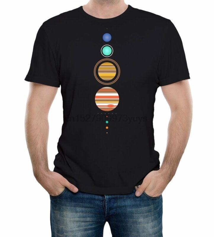 Camiseta del Sistema Solar-divertida camiseta astronomía espacial moda retro planetas cool