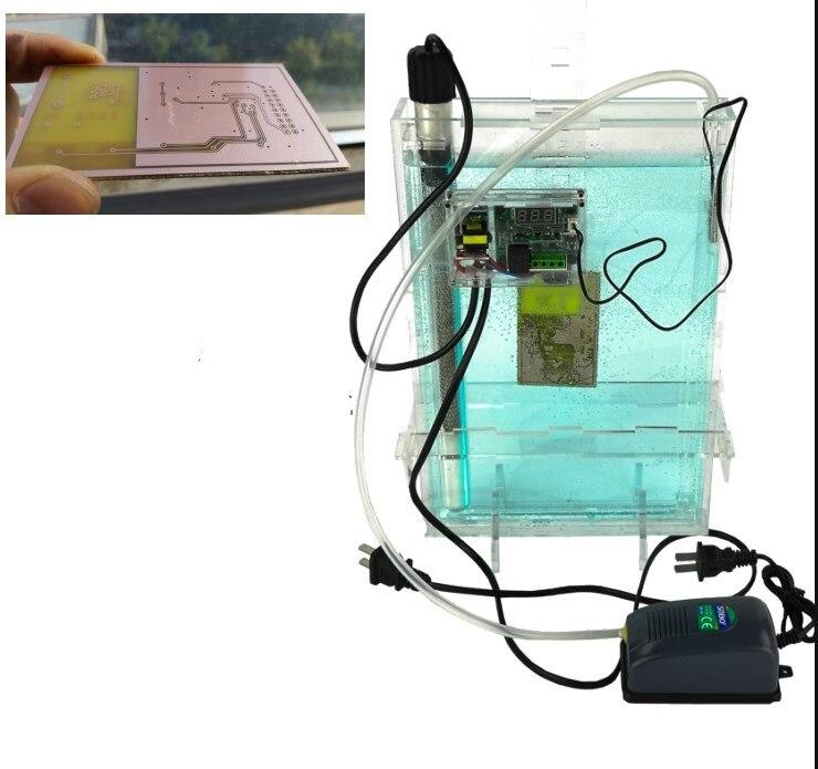 HK2030 máquina de grabado de placas de circuito impreso DIY máquina de grabado de corrosión de metal 220V