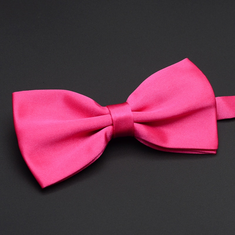 2019 New Fashion Men's Bow Ties Wedding Double Fabric Champagne Color Bowtie Banquet Solid Color Butterfly Tie with Gift Box