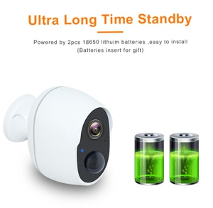 1080p BatteryWireless Surveillance Camera With Wifi Home external Security Battery Alarm Audio Outdoor Battery Powered IP Camera