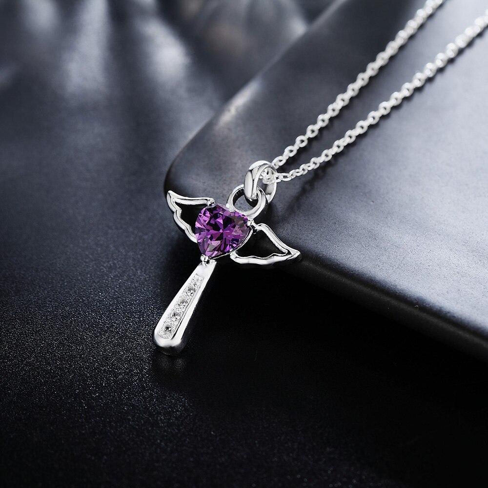 Новый-925-стерлингового-серебра-с-украшением-в-виде-кристаллов-крест-подвески-цинковый-сплав-ожерелье-для-женщин-роскошные-вечерние-сваде