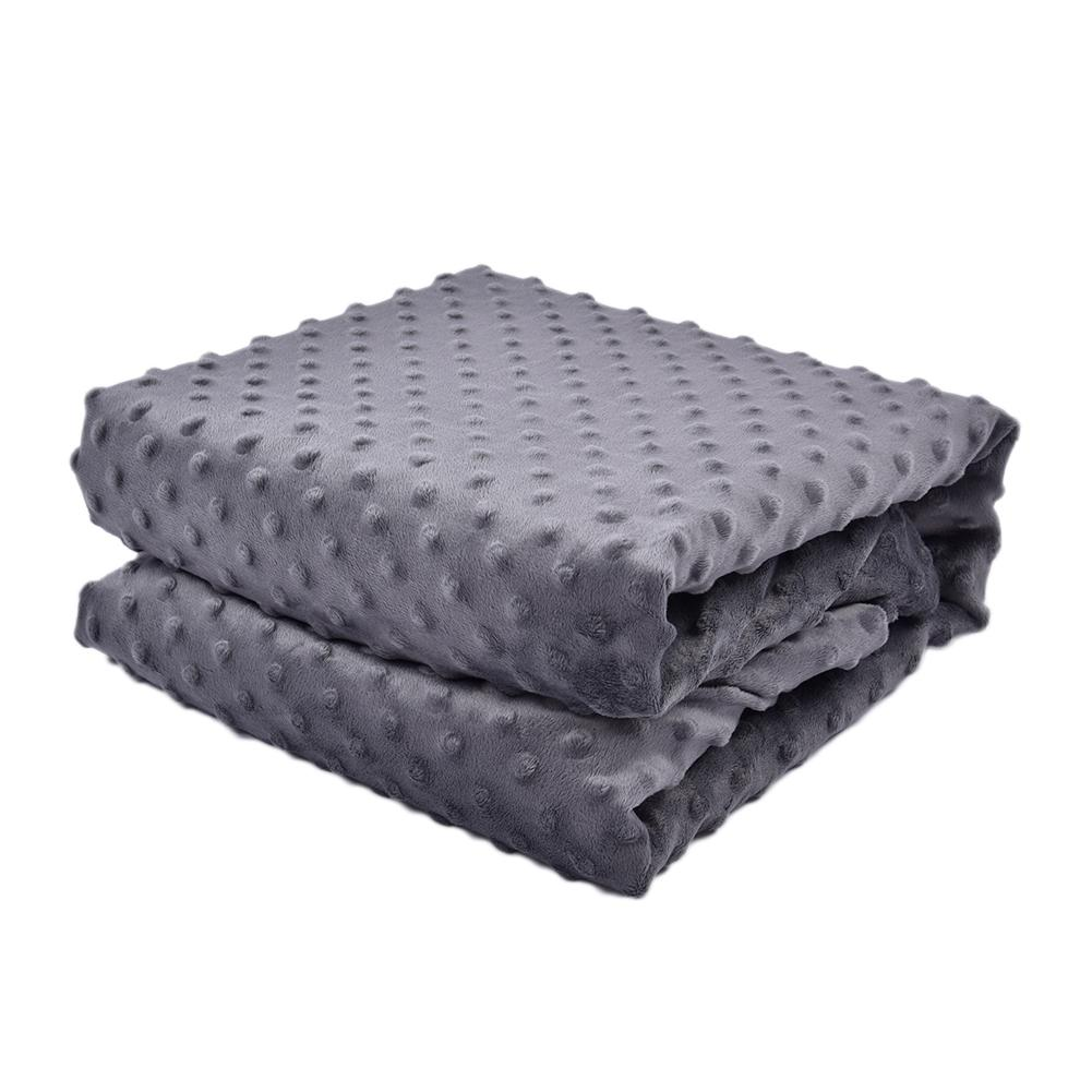 Cotton Weighted Gravity Blanket Crystal Velvet Quilt Cover Soft Breathable Sleep Blanket For Adult Decompression Gravity Blanket