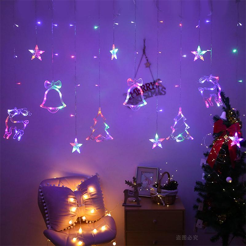Lămpi de Crăciun LED de 3,5 m lumina cortină ghirlandă sticlă - Luminări festive - Fotografie 3