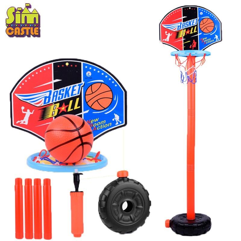 Детский баскетбольный игровой набор, для занятий спортом на открытом воздухе, регулируемая подставка, корзина, держатель, Хооп, цель, игра, мини, для дома, для детей, для игры, для мальчиков, игрушки
