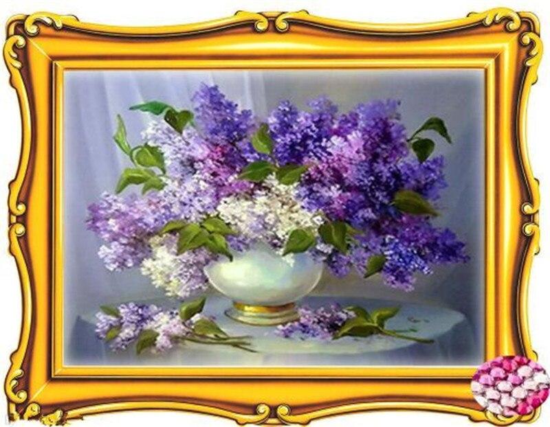 5d Алмазная мозаика, цветы, красивый дом мечты картина