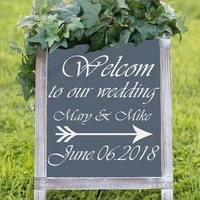 personalized party welcome wedding sign wall stickers mural vinyl decal birthday sign wedding decoration decor custom vinyl