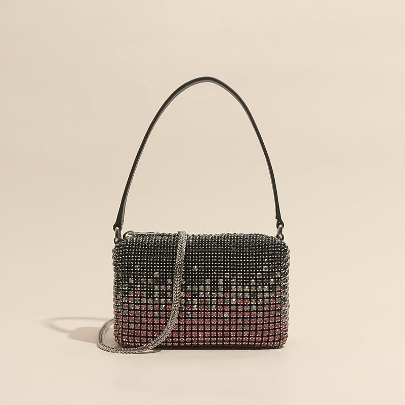 2021 Bling Crystal Clutch Evening Bag Women Luxury Designer  Shoulder Bag Rhinestone Mini Purse Ladies Fashion Crossbody Bag