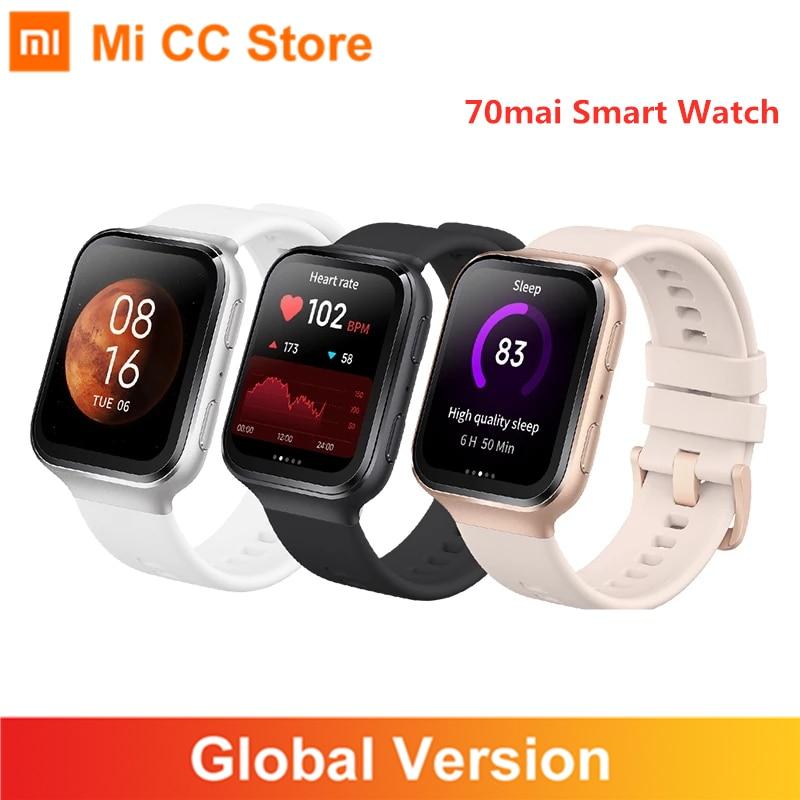 70mai Smart Watch GPS Sport Heart Rate Monitor 5ATM Waterproof Bluetooth-compatible 70 mai Saphir Sm