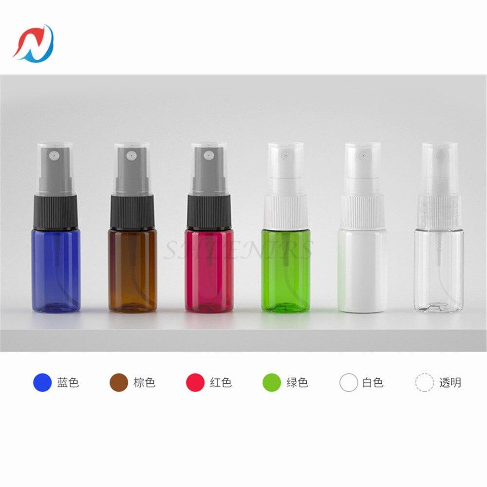 Sheenirs 100 шт. 10 мл бутылки с мелким распылителем 10 мл с насосной крышкой, маленькие пустые пластиковые бутылки для путешествий