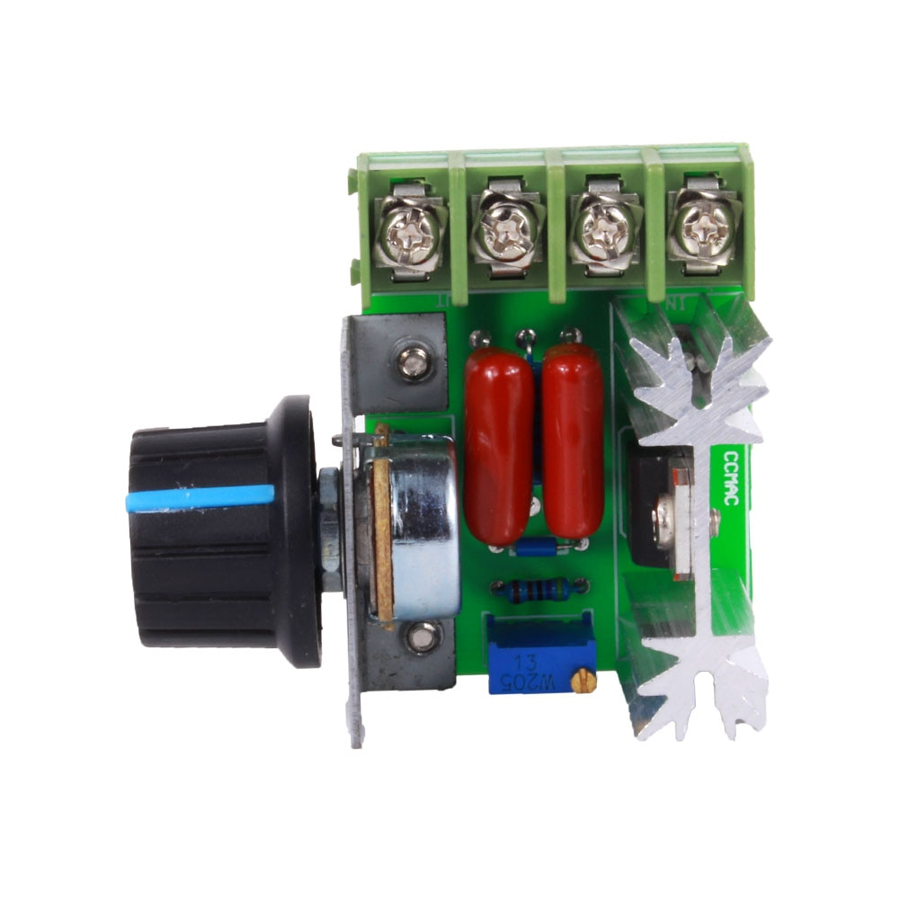 PWM AC Control de velocidad del Motor de 2000W (máx.) regulador de voltaje SCR ajustable 50-220V 25A atenuadores LED