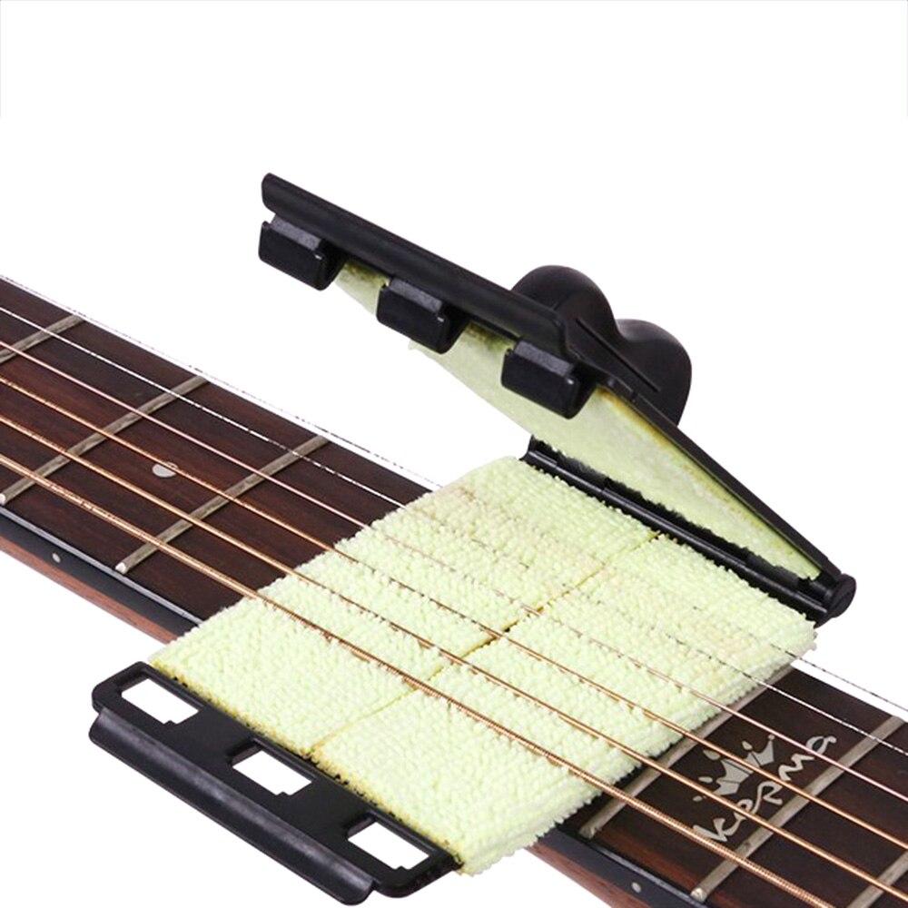 Щетка для чистки гитарных струн, акустическая электрическая доска, басовый скруббер, гриф, чистящий инструмент, аксессуары для ухода за обслуживанием