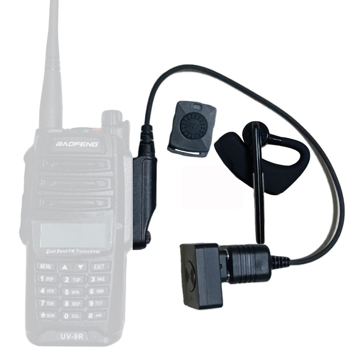 Walkie Talkie Wireless Headset  Walkie Talkie Bluetooth Headset  Headphone Earpiece For Baofeng UV-9R PLUS BF-9700 A58 UV-XR 5S