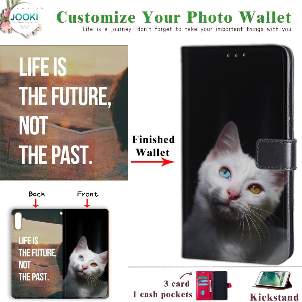 Para LG V35 ThinQ carcasa DIY tapa personalizada para funda LG V35 ThinQ personalizada foto cuero cartera regalo personalizado