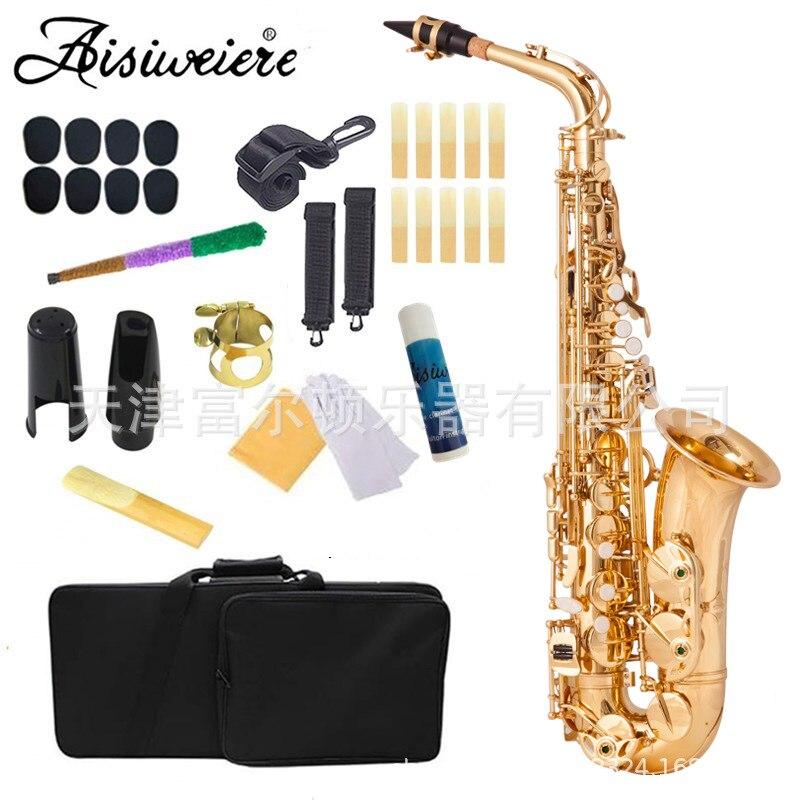 Alto em e Plana Saxofone Dourado Eletroforetic