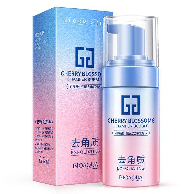 Bioaqua Cherry Blossom Exfoliating Cleansing Foam Hydrating Nourishing Facial Cleanser Moisturizing Cleansing Oil-Control недорого