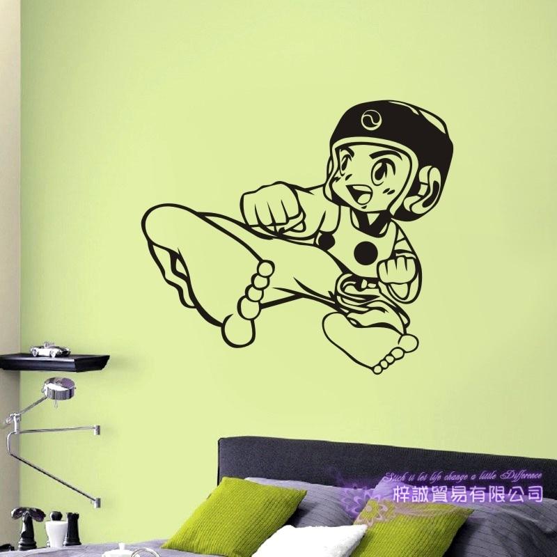 Taekwondo Boxing Club Judo Karate Sticker Kick Boxer Play Car Decal Free Combat Posters Vinyl Striker Wall Decals Decor