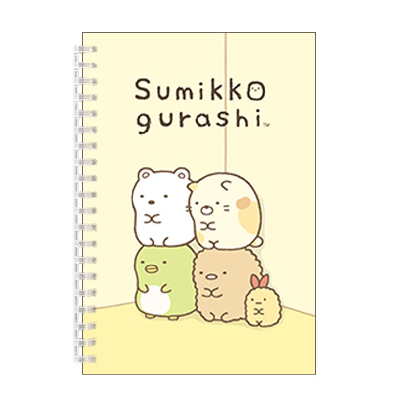 Cartoon Sumikko Gurashi Illustration A5 Cover  Notebook Spiral Binder Diary Kawai Cute Animal Travel Journal Stationery Gift