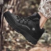 men waterproof military tactical boots mid cut outdoor hiking boots breathable sport trekking shoes non slip mens hiking shoes