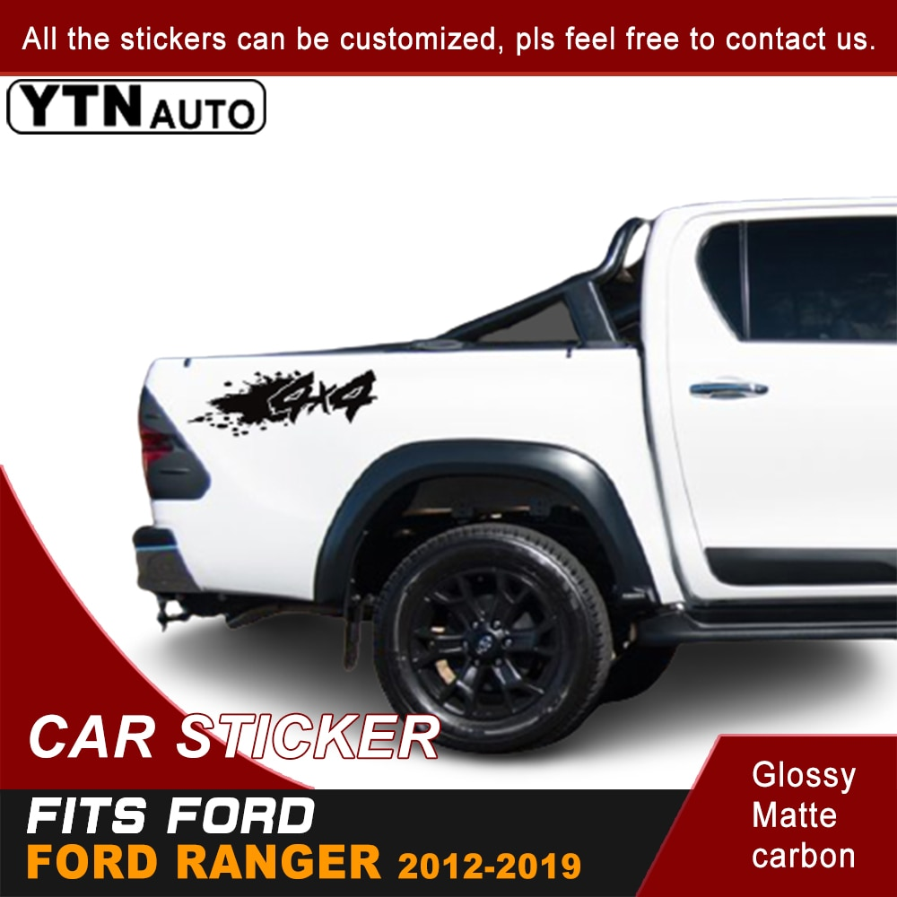 Car Stickers For Ford Ranger T6 T7 T8 2012 -2020 Left And Right 4x4 Mud Off Road Ssticker Decal Vinyl Off Road 4x4