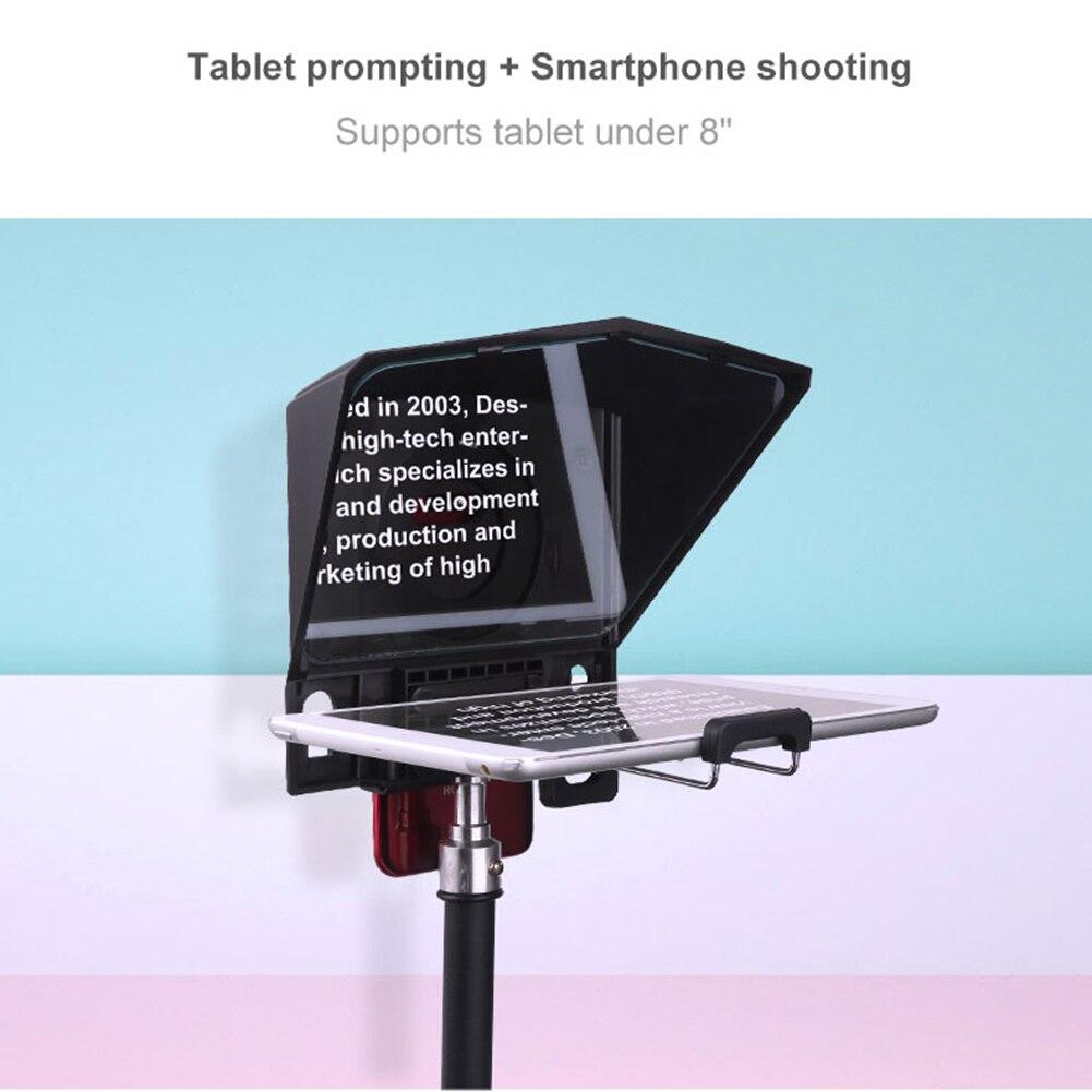 Teleprompter para tablet smartphone dslr câmera entrevista discurso prompter gk99