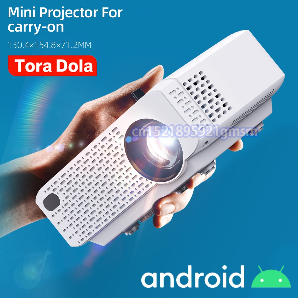 2021 TORA DOLA MINI Projector for Home Theater Portable Video Projector Support Full HD 1080P Cinema