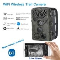 2020 wild trail camera wifi app live show bluetooth control hunting cameras wifi830 20mp 1080p night vision wildlife photo traps