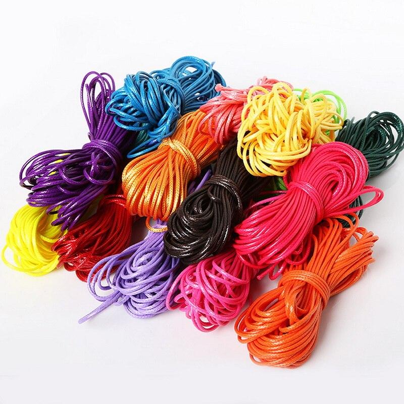 1mm 1,5mm 2mm Multi Farben Gewachste Linie Polyester Baumwolle Cord Runde Perlen Seil Faden Schnur Draht DIY nähen Zubehör