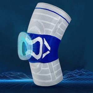 Sport Knee Pad Protector Volleyball Basketball Knee Pads Brace Silicone Pad Spring Support Anti-Collision Patella Kneepad Guard