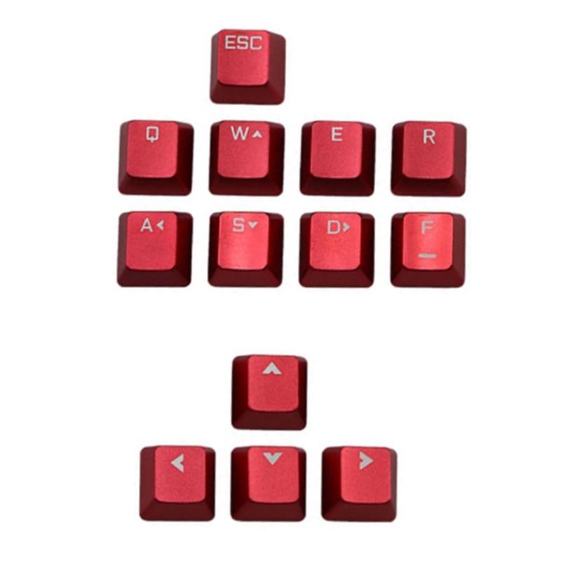 13 قطعة مفاتيح معدنية سبائك الألومنيوم أغطية المفاتيح للوحة المفاتيح التبديل الميكانيكية