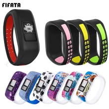 FIFATA Colorful Soft Silicone Wristband For Garmin Vivofit JR/JR2/Vivofit 3 Smart Bracelet Replace W