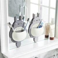 Brosse a dents  1 piece  boite a succion Totoro mignon  organisateur de salle de bains  outils accessoires