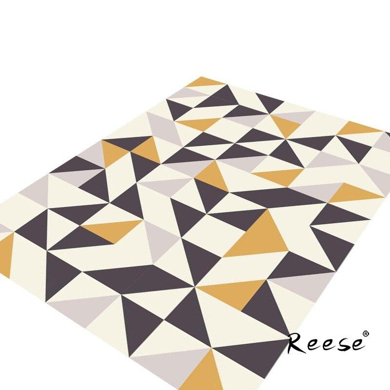 ريس المعين و مثلث منطقة البساط الطابق مكافحة زلة طباعة السجاد قابل للغسل مخصصة لغرفة المعيشة المطبخ غرفة نوم مطعم