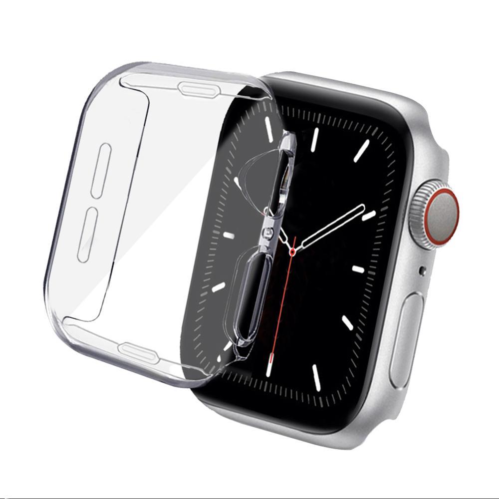 Чехол для Apple Watch 38 мм, 42 мм, 40 мм, 44 мм, мягкий прозрачный чехол из ТПУ для всесторонней защиты экрана, защитный чехол, чехол для серии 5, 4, 3, 2, 1 чехол