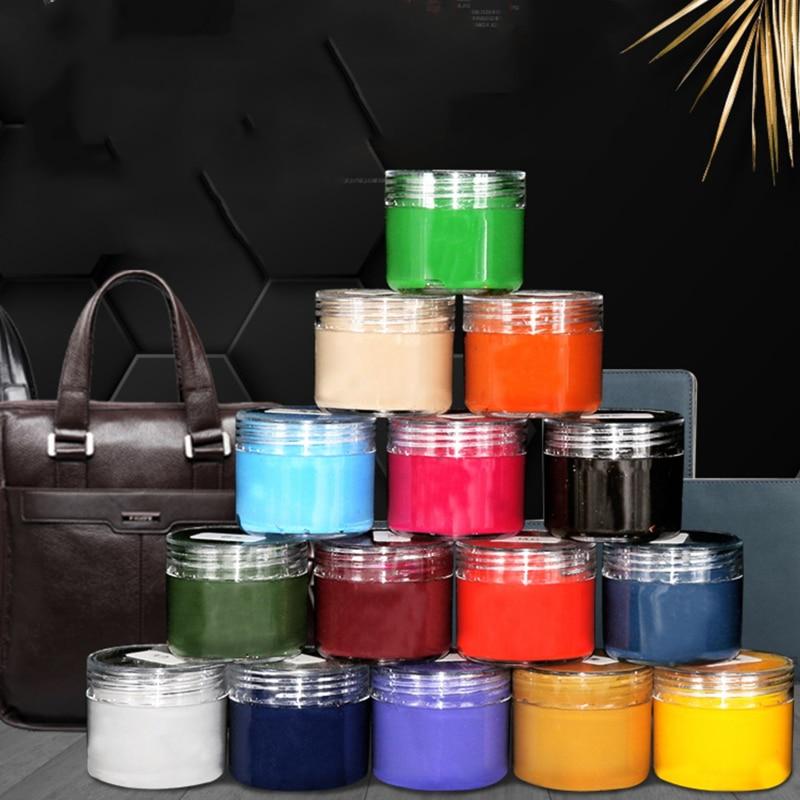 صبغة جلدية احترافية ، اصنعها بنفسك ، حقيبة جلدية ، أحذية ، أريكة ، إصلاح ، معجون ألوان تكميلي ، 32 لونًا ، 30 مللي