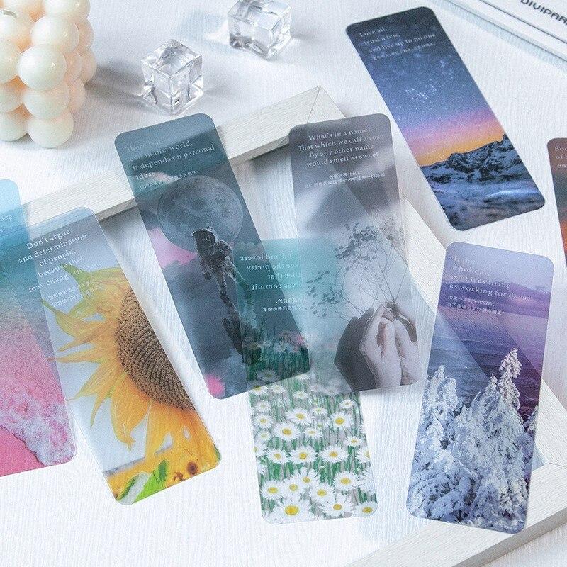 3 шт. полупрозрачные закладки для книг в стиле Ins, красивые закладки для книг, креативная Корейская канцелярия, милые школьные принадлежност...