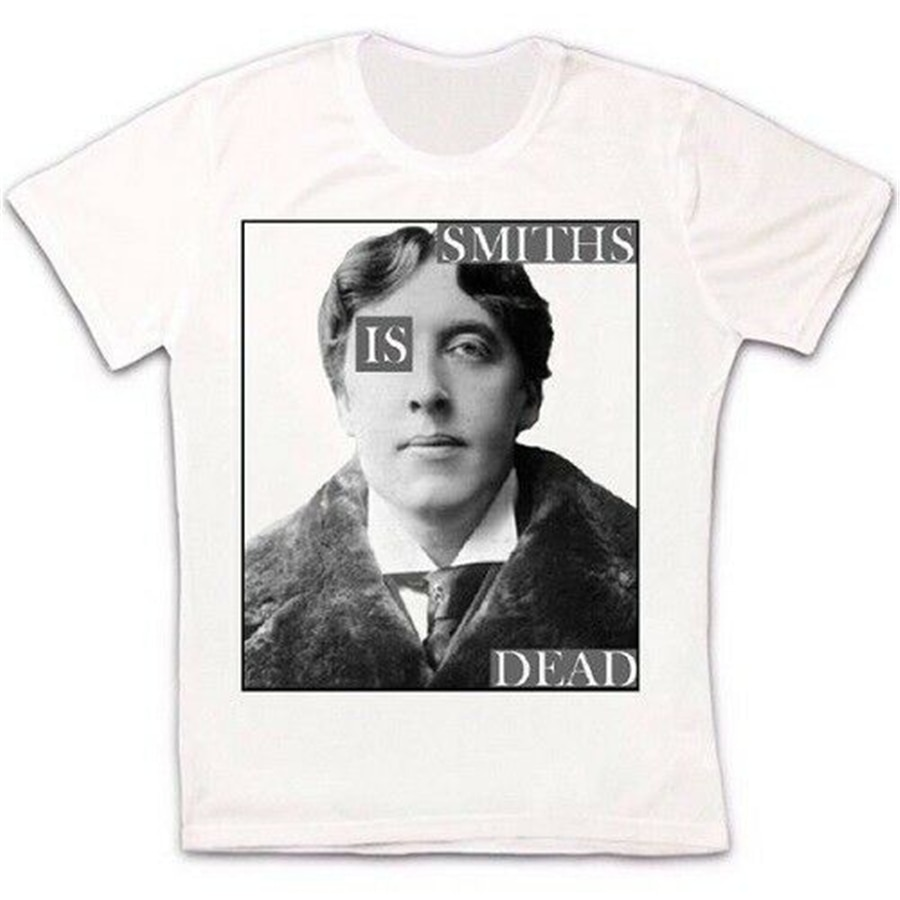 Oscar Wilde Smiths Is Dead 80S Indie Rock ретро Винтажная футболка унисекс 1233 уличная одежда модная футболка
