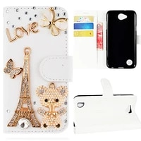 luxury leather flip wallet phone case for iphone xr x xs 11 pro max rose soft cover for 7 plus 8 6s 6 5 5s se 2020 12 mini bear