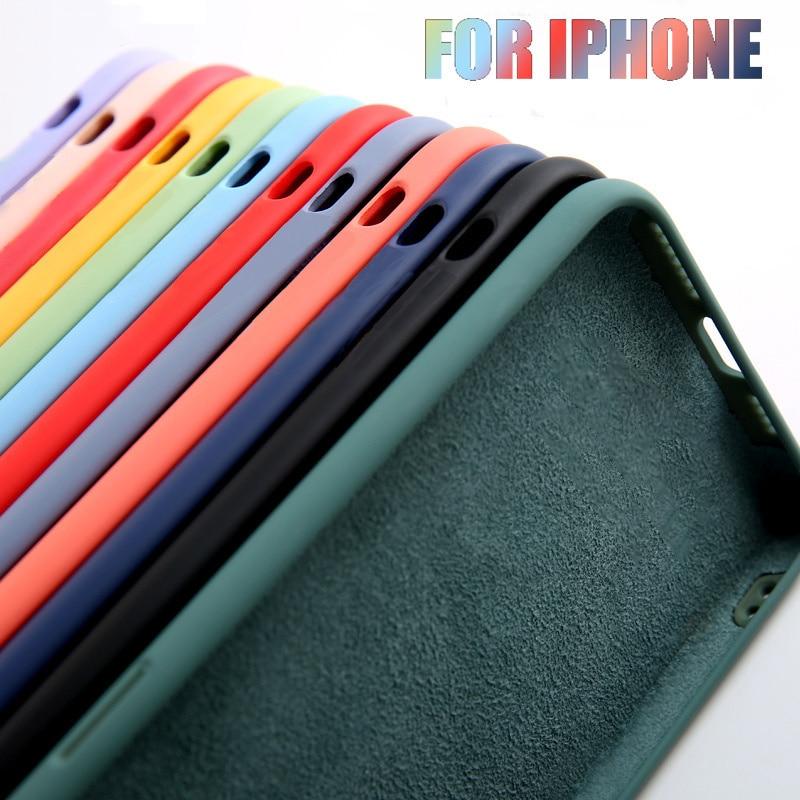 Оригинальный официальный силиконовый чехол для iPhone 11 13 Pro X XR XS, чехол для iPhone 12 Pro Max 7 8 Plus SE 2020, чехлы с логотипом