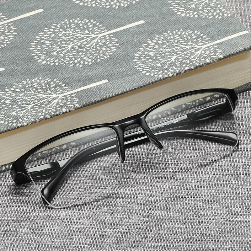 Men Women Boxed Reading Glasses Presbyopia Fashion Large Half frame Unisex Eyewear +0.25 +0.5+0.75+1.25+1.75+2.25+2.75+3.25+3.75