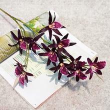 فاخر بساتين الفاكهة فرع طويل زهرة اصطناعية فراشة السحلية للعام الجديد المنزل الزفاف الخريف الديكور فلوريس نبات صناعي JH143